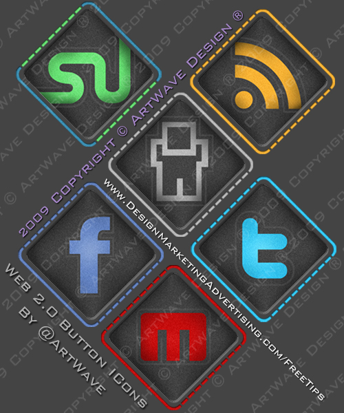 Web 2.0 Button Icons