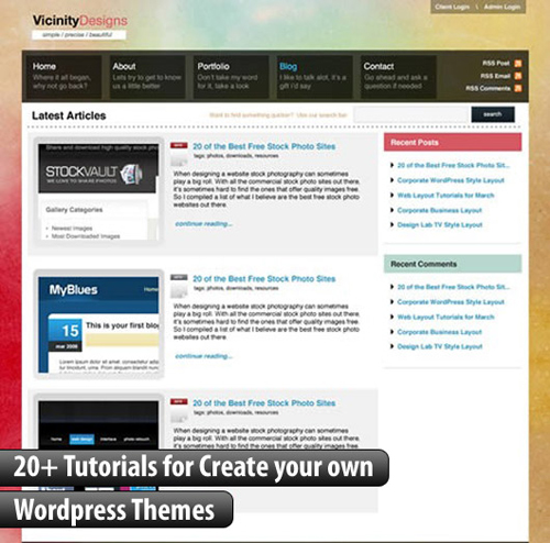 Creating your own wordpress themes design marketing for Making wordpress templates