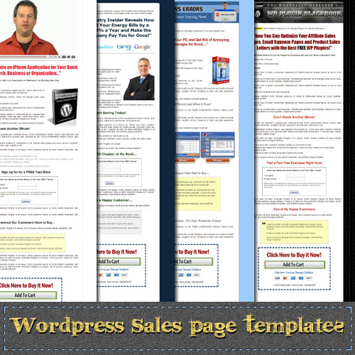 Wordpress sales landing page themes design marketing wp salespage templates pronofoot35fo Images