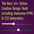 The Best 20+ Online Creative Design Tools Including Awesome HTML & CSS Generators